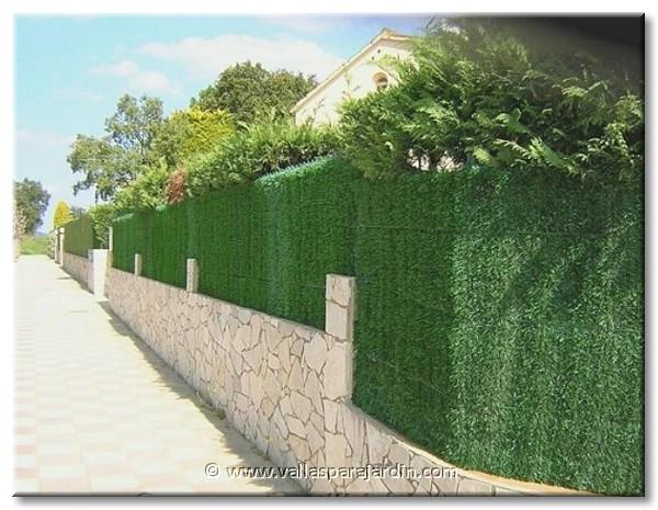 Seto artificial y brezo natural extra para vallas - Setos para vallas ...